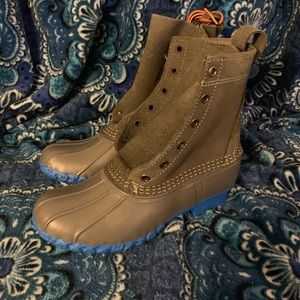 NEW RARE L.L. Bean Duck Boots GRY/BLU WMN 6(7.5-8)